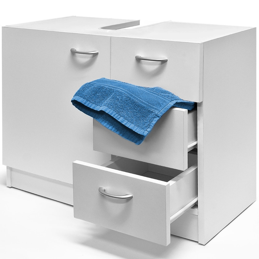 Deuba Waschbeckenunterschrank Weiß