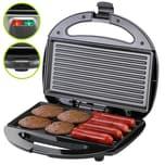 Monzana Sandwichmaker mit Antihaftbeschichtung BPA frei 750W