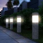 Deuba 4er Set LED Solarleuchte Gartenleuchte Steinoptik