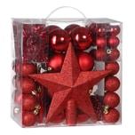 Casaria Weihnachtskugeln rot 77-teilig