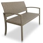 Casaria Gartenbank Poly Rattan 2-Sitzer UV-Lichtbeständig