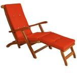 Detex Auflage Deckchair wasserabweisend Orange