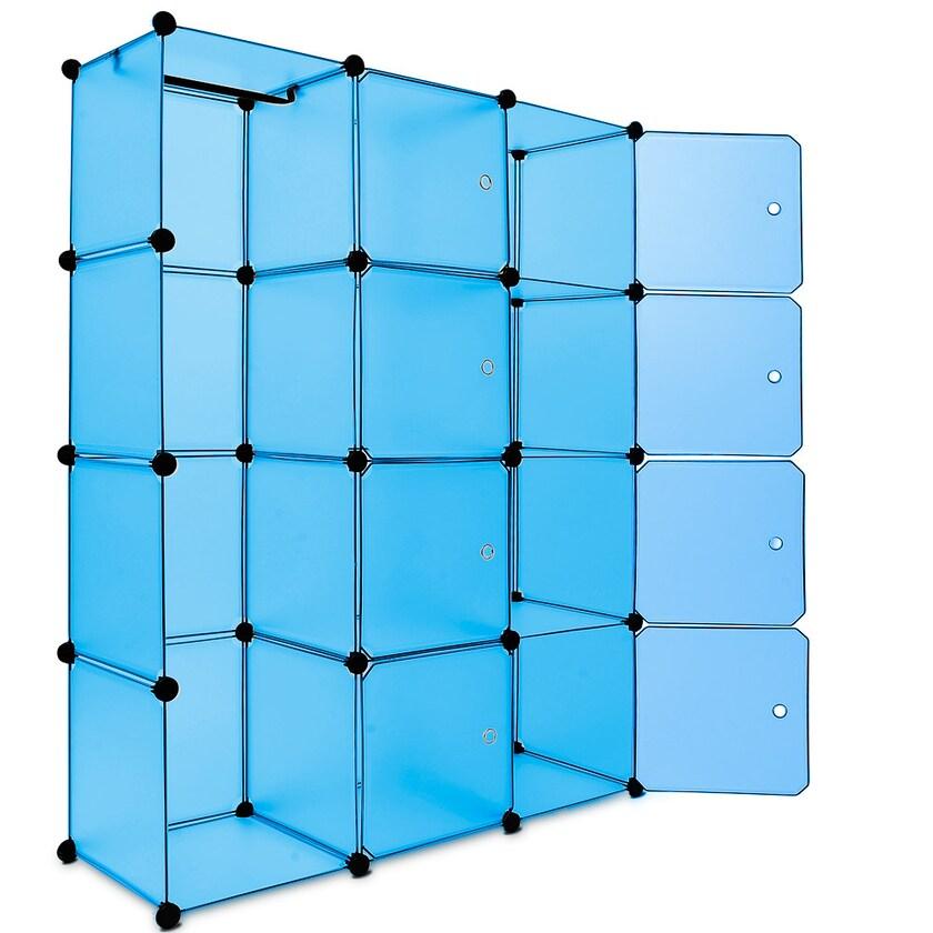 Monzana Regal Kunststoffboxen Medium blau
