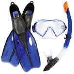 Bestway Dream Diver Schnorchelset - Flossen - Maske - Schnorchel Blau 42- 44
