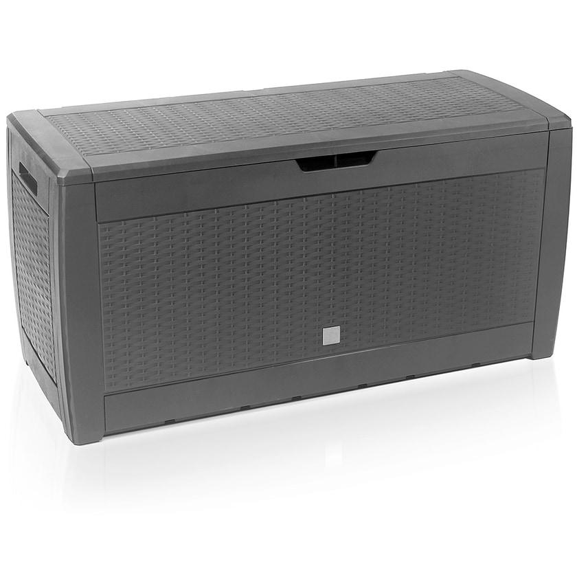 Casaria Auflagenbox Kissenbox Aufbewahrungsbox Rato Grau