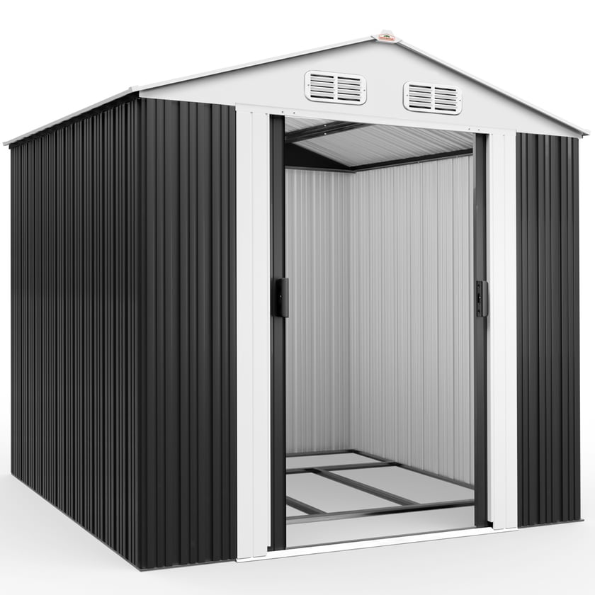 Gardebruk XXL Gerätehaus mit Fundament Schiebetür Kantenschutz