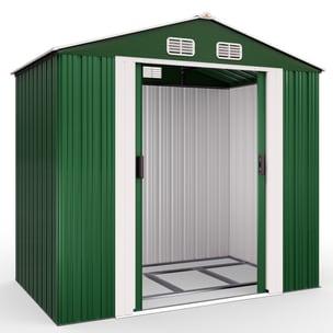 Deuba XL Metall Gerätehaus mit Fundament Gartenhaus