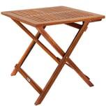 Casaria Klapptisch Gartentisch Balkontisch Akazie Holz 70x70cm