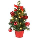 Casaria Mini Baum geschmückt 35cm mit Timerfunktion