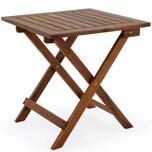 Deuba Gartentisch Beistelltisch Klappbar Holz Akazie 46x46cm