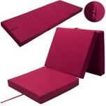 Detex Faltbare Matratze fürs Gästebett inkl. Cover in rot