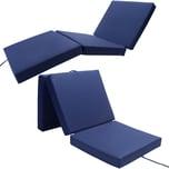 Detex Faltbare Matratze fürs Gästebett inkl. Cover in blau