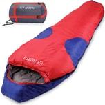 Deuba Schlafsack Mumienschlafsack Icy North 230x82cm bis -13°C Blau Rot