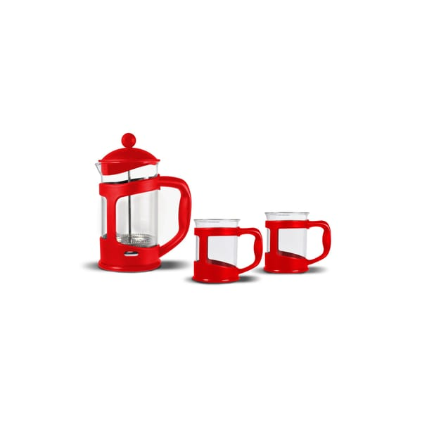 Bialetti Set French Press m. 2 Tassen, rot