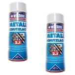 Wilckens 2x Wilckens Metall Schutzlack Spray 2in1 400ml weiss
