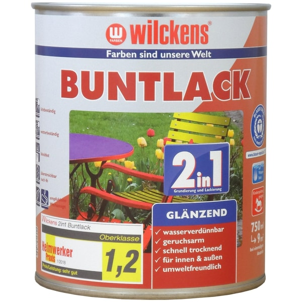 Wilckens 2in1 Buntlack glänzend Moosgrün 0,75 L
