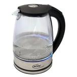 Elta Wasserkocher Glas mit Temperaturauswahl 1.7l
