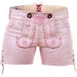 Edelnice Damen Ledershorts pink Princess