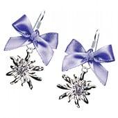 Edelnice Trachten Ohrhänger Edelweiß Schleife lila