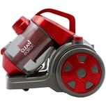 Clean Edition Power Zyklon NANO Bodenstaubsauger, Rot-Metallic / Grau