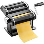 GEFU 89426 Pasta Perfetta Pastamaschine schwarz matt inkl. Aufsatz für Lasagne, Tagliolini, Tagliatelle