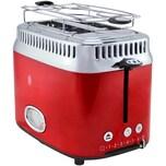 Russell Hobbs 21680-56 Retro Ribbon Red, 2-Schlitz-Toaster mit Brötchenaufsatz, 1.300 Watt