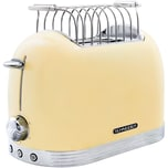 Schneider SL T2.2 SC Vintage Edelstahl Toaster in Retro Design, Elfenbeinfarben