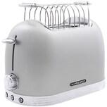 Schneider SL T2.2 SI Vintage Edelstahl Toaster in Retro Design, Silberfarben