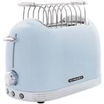 Schneider SL T2.2 LB Vintage Edelstahl Toaster in Retro Design, Blau
