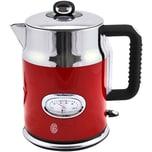 Russell Hobbs 21670-70 Retro Ribbon Red Edelstahl Wasserkocher 1,7 Liter, 2.400 Watt