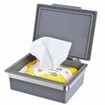 bremermann Bad Serie PIAZZA Feuchttücherbox grau mit Halterung Edelstahl matt