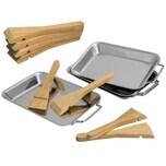bremermann Grillpfanne 4er Set inkl. 8 Bambusschaber Edelstahl