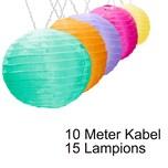 AMARE Lichterkette LED Lampion Lampenkette
