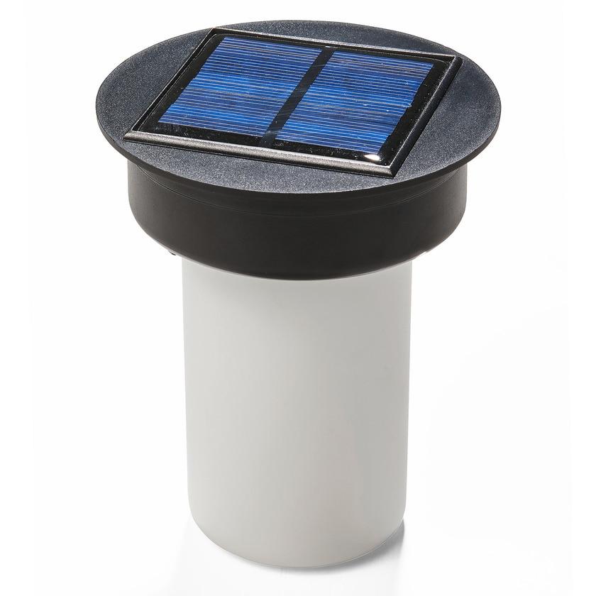 AMARE Laterne Solar Gartenfeuer mit warmweißem Flammeneffekt