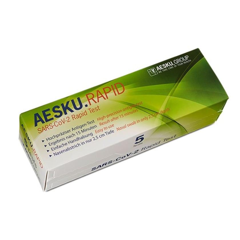 Weles Medizinprodukte Antigen SARS-CoV-2 Laientest Schnelltest für Zuhause gebrauchsfertig im 5er-Paket