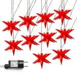 AMARE Lichterkette LED 10er Sternenlichterkette 12 cm