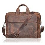 Packenger Ledertasche Leder Messenger Bag bis 15 Zoll