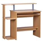 FineBuy Computertisch 94 x 90 x 48 cm Buche