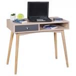 FineBuy Schreibtisch 90 x 78 x 45 cm Sonoma