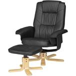 Amstyle TV Sessel 100 x 80 x 70 cm Schwarz