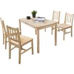 Wohnling Esszimmertisch + Stühle (Set) 108 x 73 x 65 cm Braun