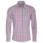 Almsach Trachtenhemd Herren Pink-Grün