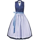 Berwin & Wolff Midi Dirndl Damen Blau