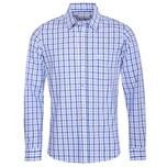 Almsach Trachtenhemd Herren Blautöne