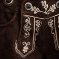 Almsach kurze Lederhose Damen Braun