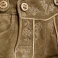 Almsach kurze Lederhose Damen Hellbraun