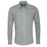 Almsach Trachtenhemd Herren Beige-Grün