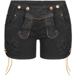 Hangowear Jeans-Lederhose Damen Schwarz
