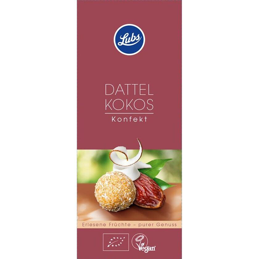 Lubs Dattel Kokos Konfekt, Fruchtkonfekt 100g Bio