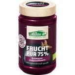 Allos Frucht-Pur Schwarze Johannisbeere bio 75% 250g